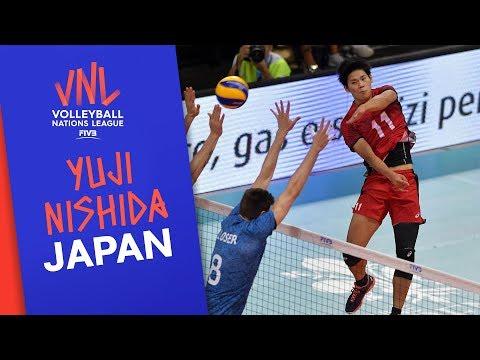 Yuji Nishida, Japan's high-flying opposite spiker   VNL Stars   Volleyball Nations League 2019