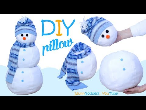 How To Make A 3D Construction Snowman Pillow – DIY Three-Dimensional Spheres Snowman Pillow