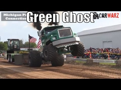 Green Ghost Semi Truck Exhibition Class From WMP At Kent City MI 2018