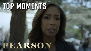 Pearson   Top Moments: Jessica Learns About The Labor Strike   Series Premiere   USA Network