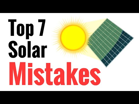 Top 7 Mistakes Newbies Make Going Solar - Avoid These For Effective Power Harvesting From The Sun - UCPALLPNv882MCszcUjU5DmQ