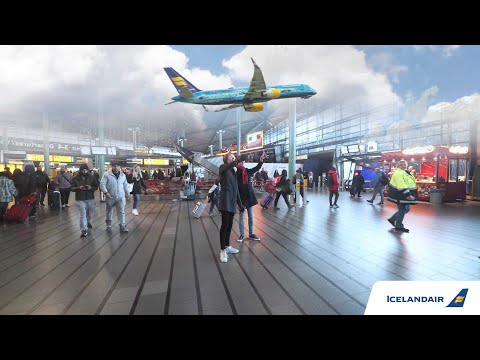 Augmented Reality Stopover at Amsterdam Schiphol Airport | Icelandair