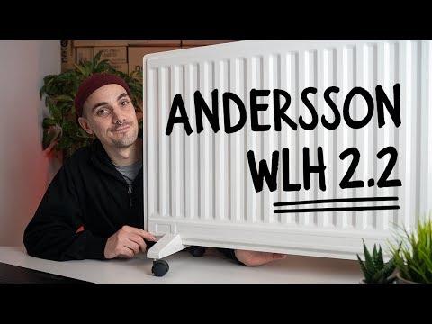 Andersson WLH 2.2 - Veggmonterbar 1000 W oljeovn i slankt design