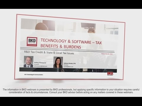 Technology & Software – Tax Benefits & Burdens