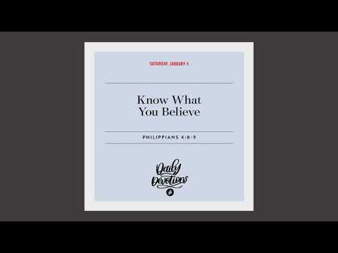 Know What You Believe - Daily Devotion