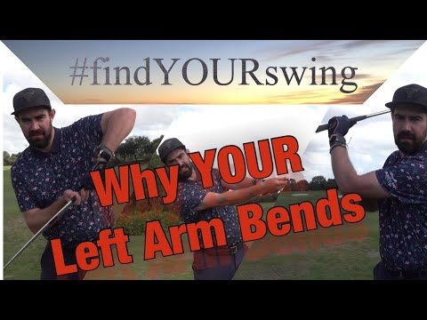 Why YOUR Left Arm Bends in The Golfswing