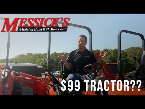 Can you REALLY buy a tractor for only $99\mo! Picture