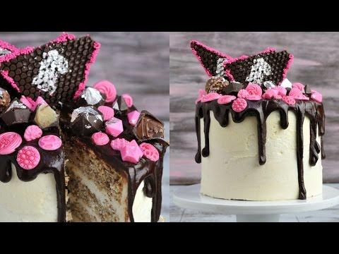 WALNUT CAKE WITH VANILLA FLOUR BUTTERCREAM AND CHOCOLATE DIAMONDS, HANIELA'S