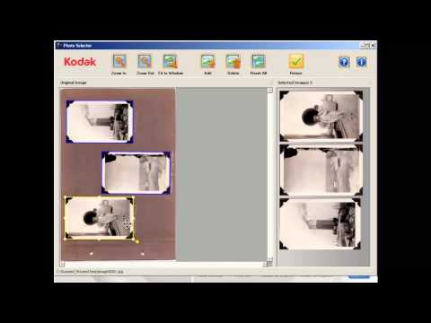 Digitizing fragile photos and segmenting album pages with Kodak Picture Saver Scanning System Preview