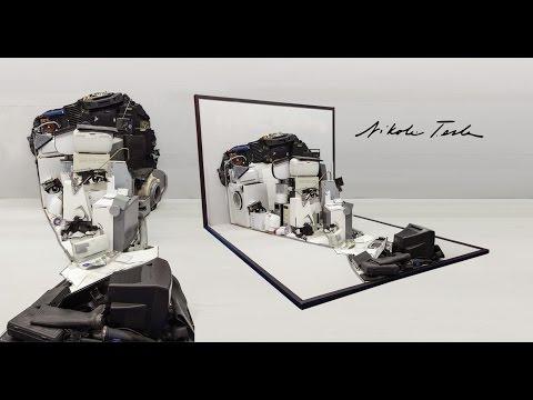 Nikola Tesla - 3 Boyutlu Anamorfoz