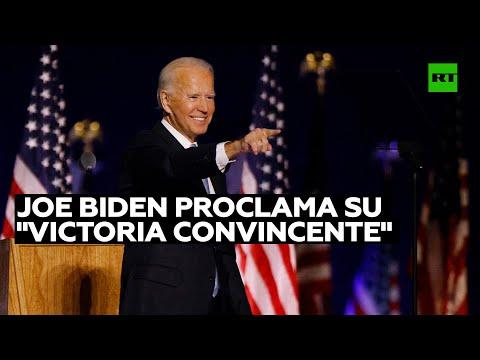 Joe Biden proclama su «victoria convincente» en las presidenciales