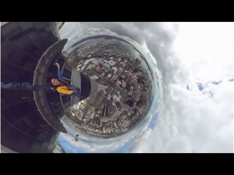 Landing on planet after jumping from Sky Tower