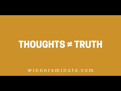 Thoughts  Truth // The Winner's Minute With Mac Hammond