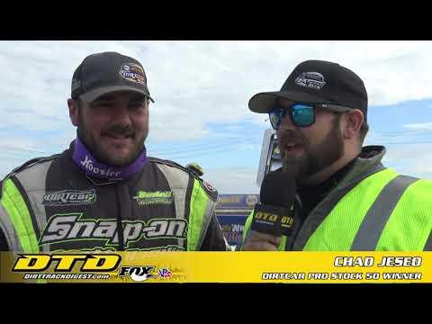 SDW XLIX   DIRTcar Pro Stock 50 Winner - Chad Jeseo   10/10/21 - dirt track racing video image