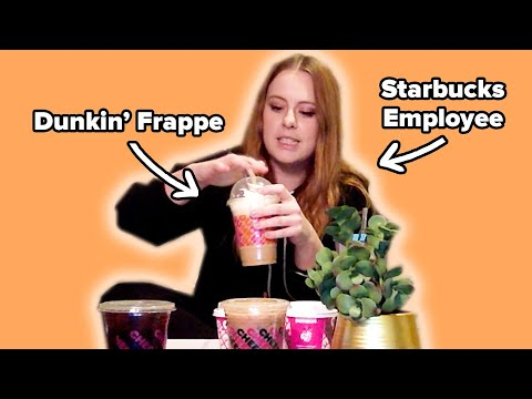 Starbucks & Dunkin Employees Review Each Other's Coffee