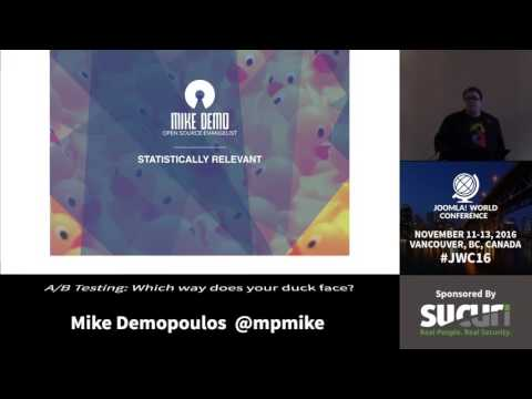 JWC 2016 - A/B Testing: Which Way Does Your Duck Face? - Mike Demopoulos
