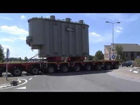 Transport nieuwe Stedin transformator Goeree-Overflakkee
