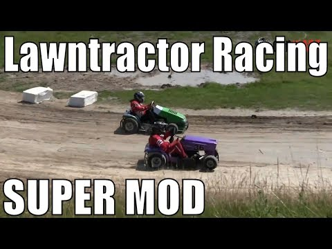 Super Modified Class Lawntractor Racing At Western Ontario Outlaws July 7 2019 - Round 2