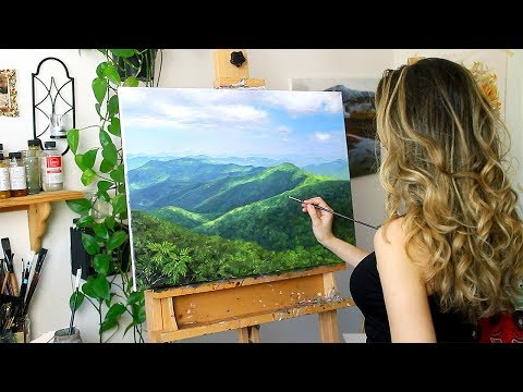 Oil Painting Time Lapse | Mountain Landscape (Where I Got Married!)