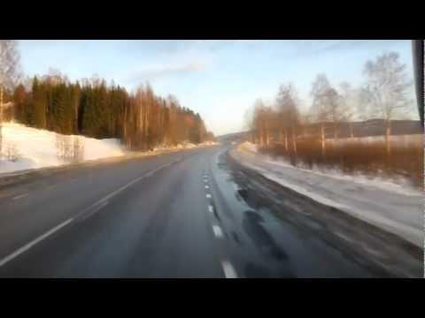 Buss genom Höga Kusten / High Coast of Sweden.MOV