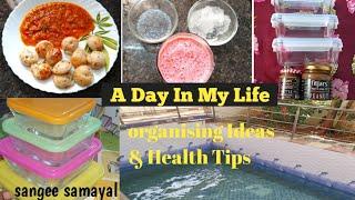 DIML vlog|| Rose Milk😍||weight loss கொள்ளு பொடி😋||Unboxing fridge organiser👌 ||Health tips👍