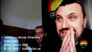 Entrevista a Echeniques en Arena Sonora 2020 (04.02.2020)