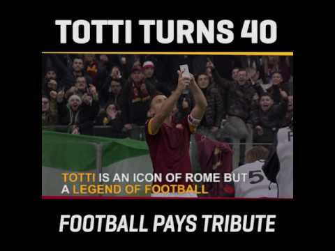 Football icons pay tribute to Totti