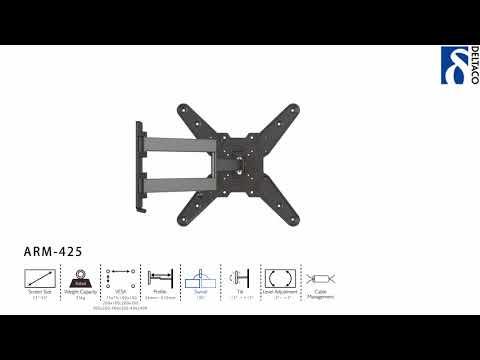 DELTACO Väggfäste för TV/Skärm - ARM-425