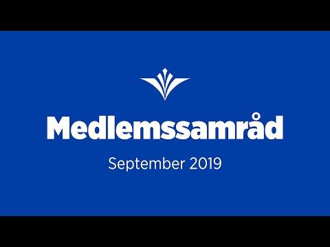 Medlemssamråd om kapitalfrågor (september 2019)