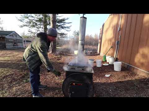 HOMEMADE SAP EVAPORATOR. How has it worked this season? Making Maple Syrup.