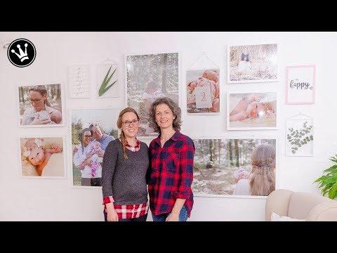 DIY – GALLERY WALL selber machen | Gewinnerprojekt Makeover Wohnzimmer | Geschenkidee Handlettering