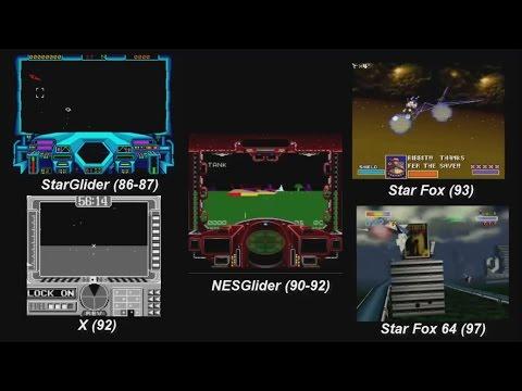 NESGlider (Prototipo técnico de Star Fox). SNES y el 3D.