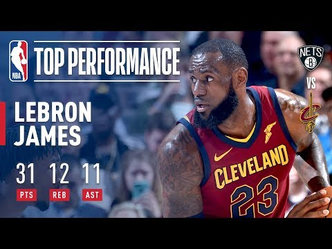 LeBron James Sparks the Cavs' Big Offensive Game With His 12th Triple-Double of the Season