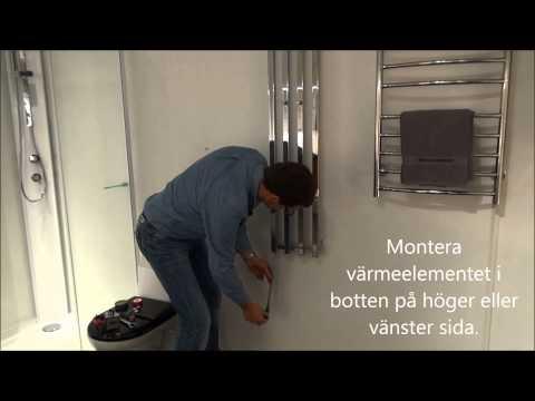 Handdukstork - video om montering och fyllning | Svedbergs