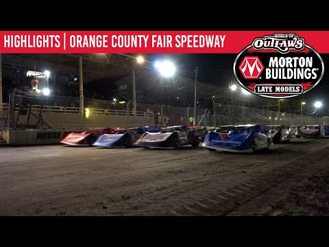 World of Outlaws Morton Building Late Models Orange County Fair Speedway August 19 2021   HIGHLIGHTS - dirt track racing video image