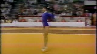 Nellie Kim (USSR) Floor Event Finals 1976 Montreal Olympic Games