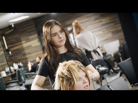 Emma   frisør elev og danmarksmester youtube