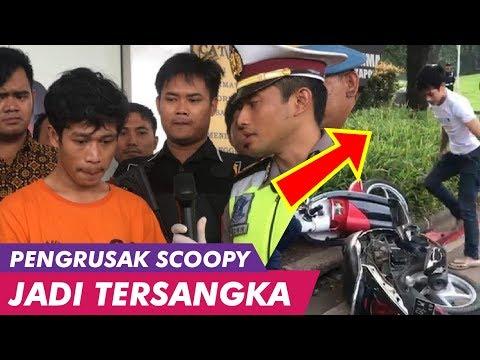 ADI SAPUTRA SI PERUSAK MOTOR SCOOPY NANGIS SAAT DITANGKAP POLISI
