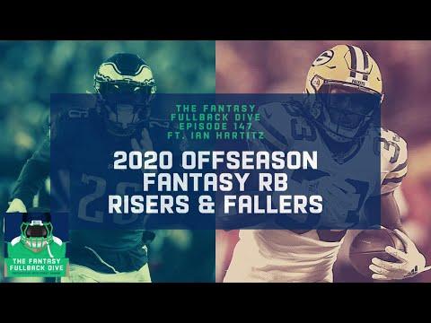 2020 Offseason Fantasy Risers & Fallers, Pt. 3: RBs ft. Ian Hartitz | Fantasy Football Podcast