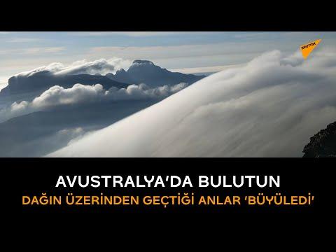 Avustralya'da bulutun dağın üzerinden geçtiği anlar 'büyüledi'