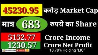 45230.95 करोड़ Market Cap मात्र 683 का Share | 5152.77 करोड़ Income, 1230.57 करोड़ Net Profit