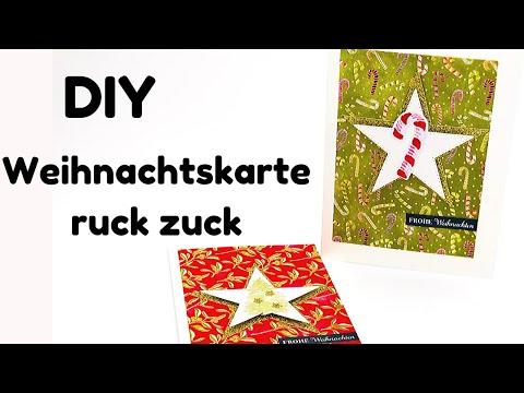 DIY-Weihnachtskarte-schnell und einfaches Design-last Minute