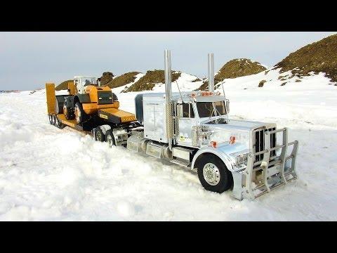 RC ADVENTURES - Chrome King Hauler & Liebherr Loader on Triple Axle Trailer with Dump Truck - UCxcjVHL-2o3D6Q9esu05a1Q