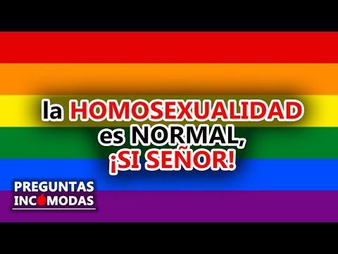 La homosexualidad es normal, ¡sí señor!