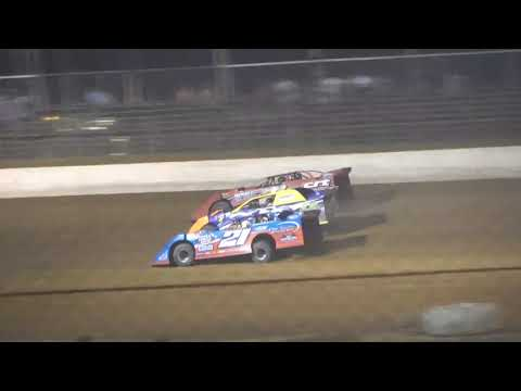 Super Late Model A-Main from Portsmouth Raceway Park, July 24th, 2021. - dirt track racing video image