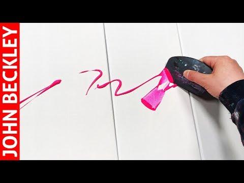 Tableau Abstrait Démonstration Peinture Acrylique  | Lucius