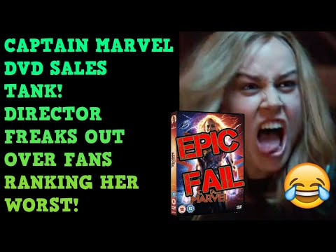 Captain Marvel DVD Sales TANK! Down 50%! Director Caught LYING To Protect Her AGAIN!