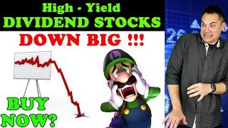 5 High-Yield Dividend Stocks that... CRASHED!!! - (Time to Buy?)