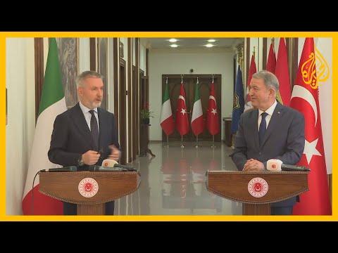 اتفاق تركي إيطالي على ضرورة حل الأزمة الليبية سلميا والتعاون لتحقيق الاستقرار في المتوسط