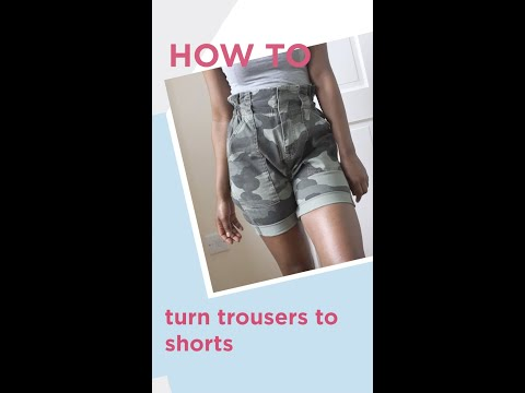 riverisland.com & River Island voucher code video: HOW TO TURN TROUSERS TO SHORTS // Islanders At Home // River Island